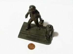"Vintage Shoeshine Boy Bronze Figurine on the Street Corner 4"" Ornament"