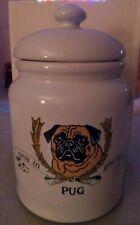 PUG canis eatinus anythingis cookie treat jar Zeppa Kent CT