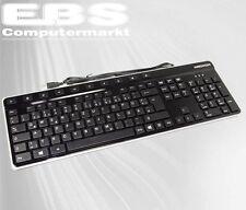 Medion USB Slim Multimedia PC Tastatur K-28 schwarz B-Ware DE