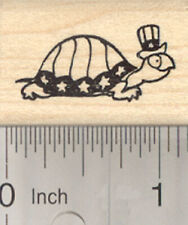 4th of July Turtle Rubber Stamp, Patriotic Tortoise A27716 WM