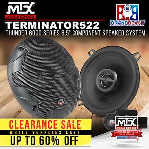 "MTX TERMINATOR522 Terminator Series 5-1/4"" 2-Way 140W Car Coaxial Speakers"