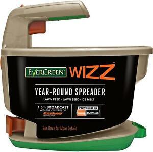 Evergreen WIZZ year-round seed spreader lawn grass feed