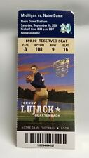 Notre Dame Irish Michigan Wolverines 2006 Football Ticket Stub Johnny Lujack