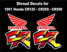 Tank decals for 1991 Honda CR250r Dirtbike    CR250 CR 250 250r