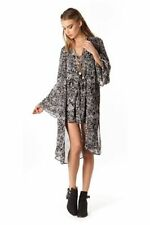 Polyester Floral Regular Size Cape Coats & Jackets for Women