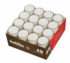 18 Cup Candle Teelichter Acryl transparent durchsichtig Hülle rot 4h Brenndauer