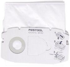 5 x FESTOOL Dust Filter Bag SC FIS-CT MINI/5 | For CTL MINI Extractors | 498410