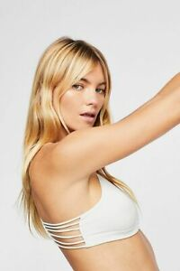 New Free People Strappy Side Bra, White, XS / Small, RRP $30