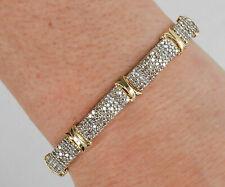 14K Yellow Gold Finish 8 CT Round Cut Diamond Women Engagement Tennis Bracelet