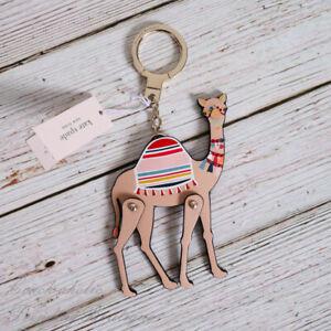 NWT Kate Spade Spice Things Up Camel Key Fob Key Chain Bag Charm