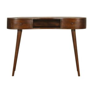 Chestnut Wave Writing Desk with Two Drawers