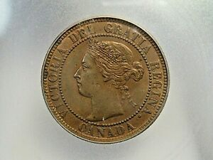 UNC 1899 Large Cent CANADA ICG MS60 details Cleaned. #3