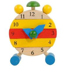 Hand Made Wooden Clock for Kids Learn Time Clock Educational Developmental Toys