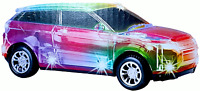 RANGE ROVER EVOQUE CAR BUMP AND GO TOY LED LIGHTS MUSIC BOYS GIRLS TOYS
