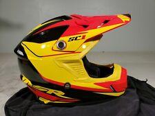 MSR Malcom Smith Racing Helmet SC1 Phoenix BLK/YEL/RED Large TR#359683