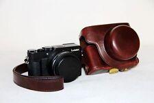 Leather camera case bag Coffeefor Panasonic LUMIX LX100 Integrated LEICA DC LENS