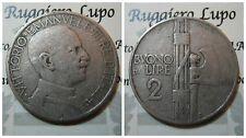Regno Vittorio Emanuele III Buono da 2 Lire 1925 MB+