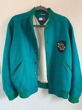 Very Rare, vintage tommy hilfiger jacket Lettermans -green