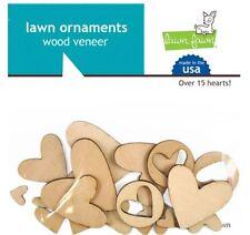 Lawn Fawn Embellishments ~ Wood Veneer ~ HEARTS Love, Valentine  ~15ct ~LF869