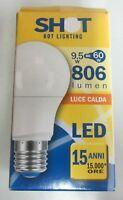 Lampadina a goccia LED SHOT 9,5W 50Hz E27 fascio 240° ELD1009X2 luce calda nuovo