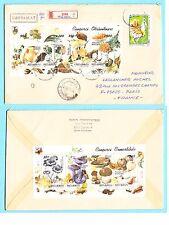 1 Lettre de Roumanie recommander avec 2 super blocs champignons magnifique TTBE