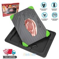 Large Fast Metal Thawing Plate Defrosting Tray For Frozen Food Steak Pork+Trap