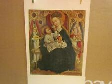 Lot 32 of 65 Renaissance Art Print: Virgin Enthroned with Two Angel Musicians