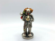 Mida Argenti Sterling Silver Over Resin Clown Figurine Clown with Balloons