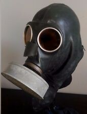 German WWII Military VM-37 Gas Mask w/ Original Filter & Eagle Stamp