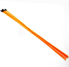 Tubo De Antena Cable Receptor 56411O RC con Naranja Fluorescente Caps X 5 380 mm largo