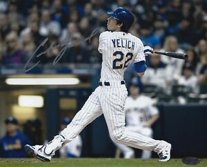 Christian Yelich Milwaukee Brewers Autographed Signed 8x10 Photo COA
