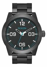 Nixon Original Corporal SS A346-602 All Black/Blue Stainless Steel 48mm Watch