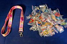 Disney World 25 Pin Trading Lot Lanyard Starter Set Princess Tangled Rapunzel