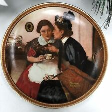 Collectible Norman Rockwell Plates Gossiping In The Alcove 1983