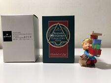 Hallmark Keepsake Ornament Collector's Club Armful Of Joy Elf 1990