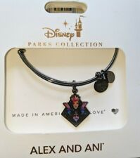Disney Parks Alex and Ani Evil Queen Silhouette Bracelet Dark Silver New