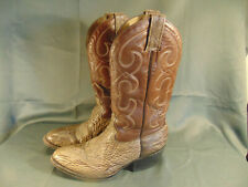 Morgan Miller Cowboy Boots western two tone snakeskin leather design size 11
