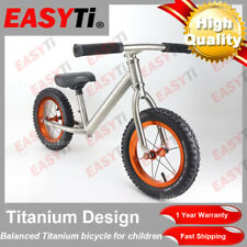 EasyTi/12Inch Children Titanium Balance Bike Kids Push Bicycle For 2-6 Years old