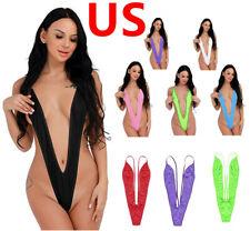Women Lingerie Sling shot Monokini Mini Thong G-String Bikini Swimwear Bodysuit