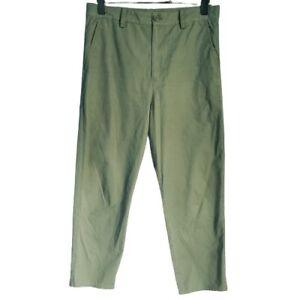 Cos Women's Ladies Trousers Green Size EU 40 UK 14 100% Cotton Straight Leg Crop