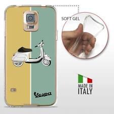 Samsung Galaxy S5 TPU CASE COVER GEL PROTETTIVA TRASPARENTE VINTAGE Vespa Retro