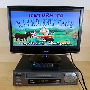 AIWA FX2800 VCR VHS VIDEO CASSETTE PLAYER RECORDER & REMOTE CONTROL SCART CABLE