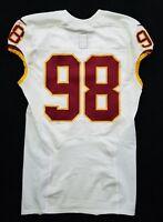 #98 No Name of Washington Redskins NFL Locker Room Game Issued Jersey