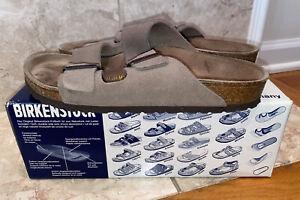 Betula BIRKENSTOCK Suede Arizona Sandals Taupe Buckle Slides Womens 40 US 9.5-10