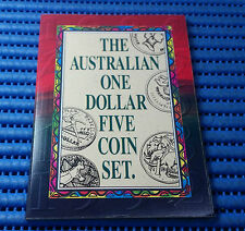 1984, 1985, 1986, 1988 and 1992 Australian One Dollar ($1) Five Coin Set