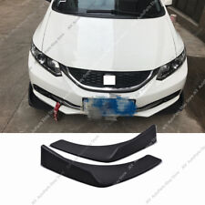 Pair Black Universal Fit Front Bumper Lip Splitter Winglet Type k 27X4.7 Inch PP