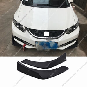Pair Black Universal Fit Front Bumper Lip Splitter Winglet Type k 27X4.7 Inch PP