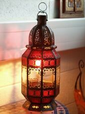 Authentic Moroccan Lantern Suitable for Candle or Electric - Various Colours