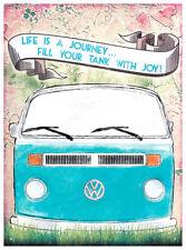 LIFE JOURNEY VW CAMPER VOLKSWAGEN METAL TIN SIGN VINTAGE RETRO F.U.M. TOOLS FUM