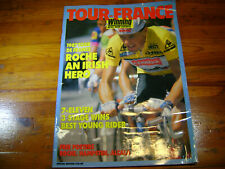 Winning Bicycle Magazine 1987 Tour de France Edition 64 pages & includes Posters